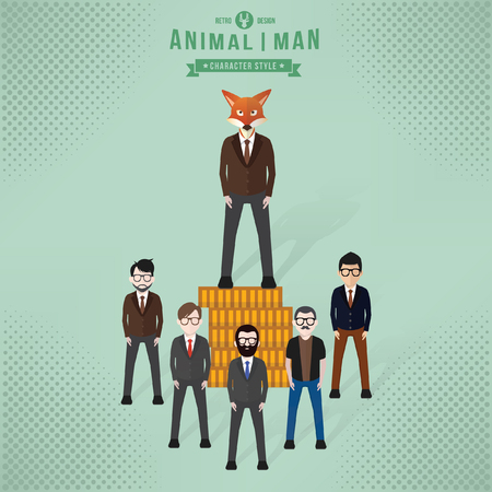 Fox businessman concept design,vector
