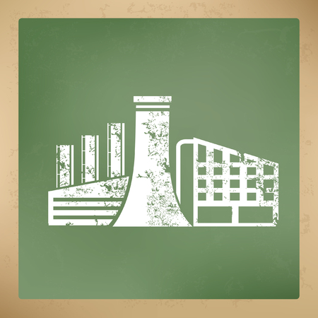 manufactory: Industry concept design,vector
