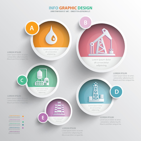 flaring: Oil Industry concept design,vector Illustration