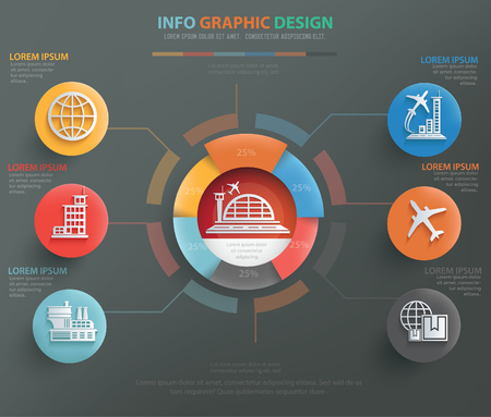 business class travel: Airport,transport concept design,vector