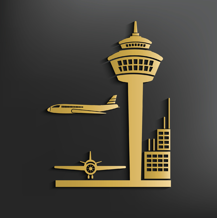 jets: Airport concept design,vector