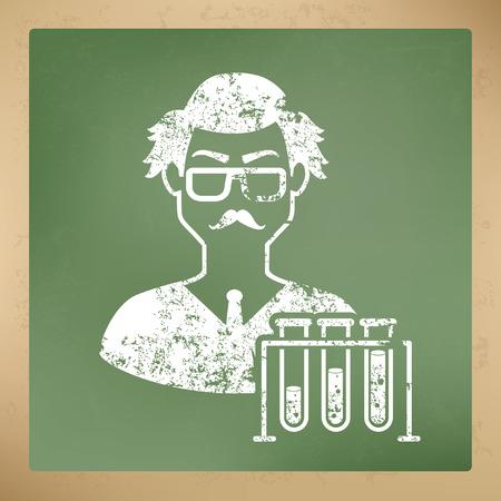 invent things: Scientist concept design,vector Illustration