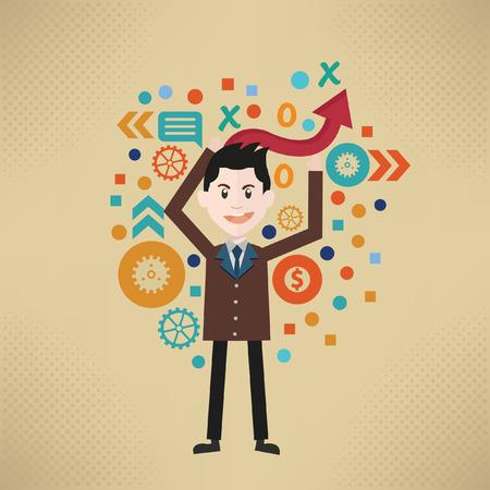 vexation: Businessman concept design,vector
