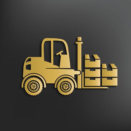 front loading: Forklift concept design,vector