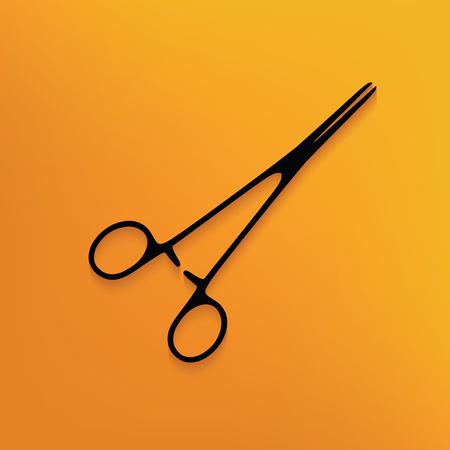 simple cross section: Scissor concept design,vector