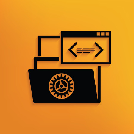 shifting: File share concept design,vector Illustration