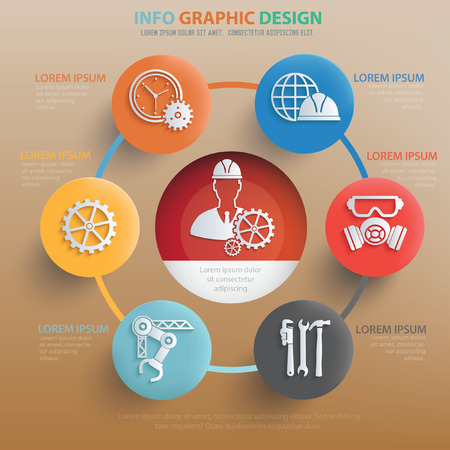 lathe: Engineer concept design,vector
