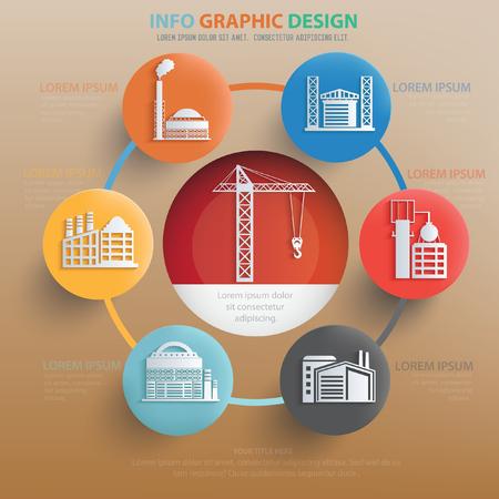 smokestack: Industry,construction concept design,vector Illustration