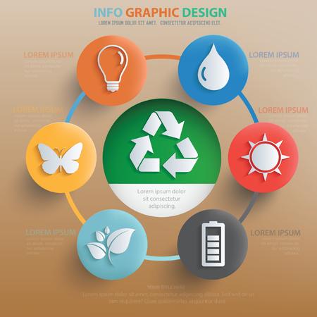 Ecology concept design,vector
