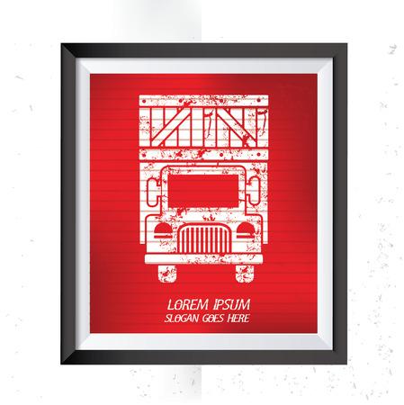 haulage: Truck,cargo concept design,vector