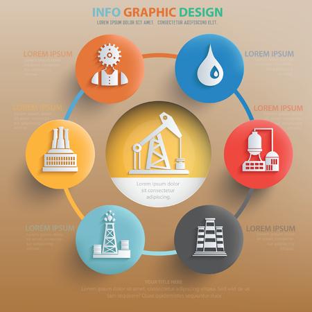 manufactory: Oil industry concept design,vector Illustration