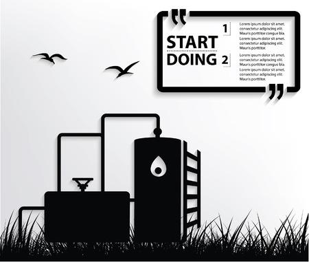conveyer: Oil industry concept design,vector Illustration