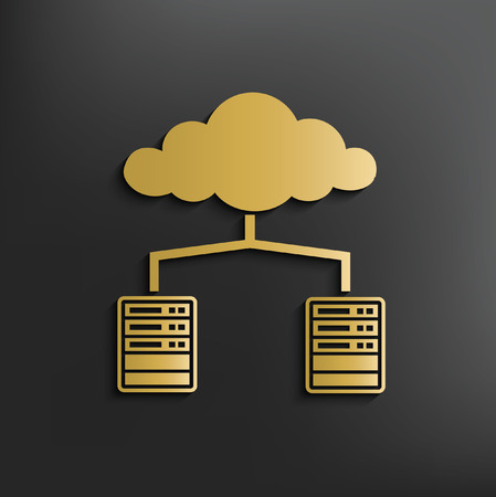 synchronizing: cloud computing concept design,vector