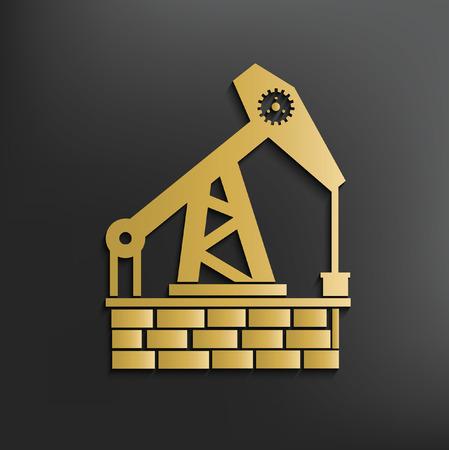Oil industry concept design,vector Illustration