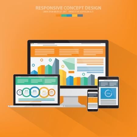 Responsive,data analysis concept design,vector