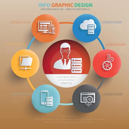 admin: Data admin concept design,vector