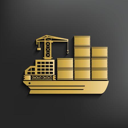 commercial tree service: Container ship concept design,vector