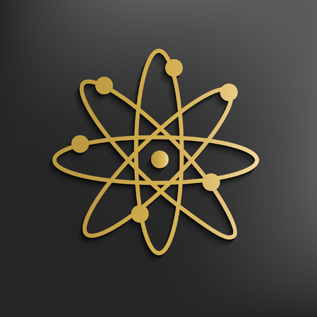 Atom,science concept design,vector