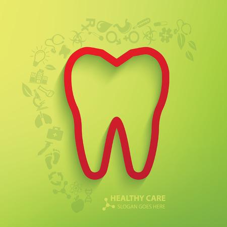 carious cavity: Teeth concept design,vector