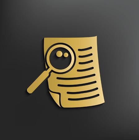 Concepto de documento de diseño, vector Vectores