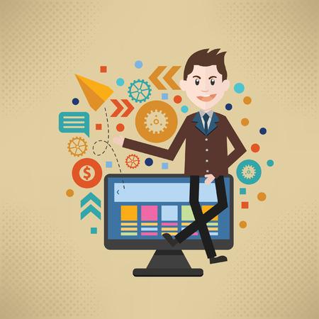 Businessman concept design,vector