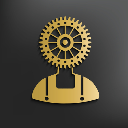geodesy: Gear,engineer concept design,vector Illustration