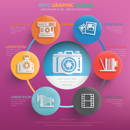 retouch: Photography concept design,vector