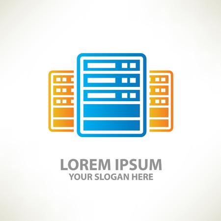 compute: Database concept design,vector Illustration