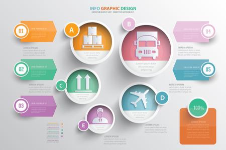 Cargo,logistic concept design,vector