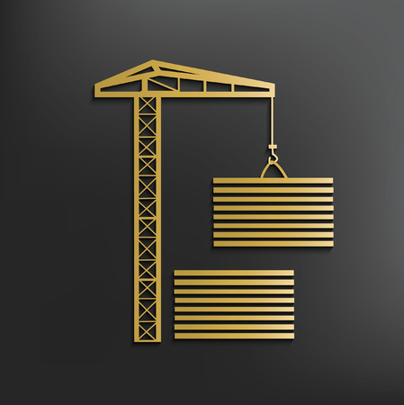 pulley: Container concept design,vector Illustration