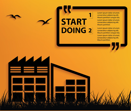 townhouses: Warehouse concept design,vector