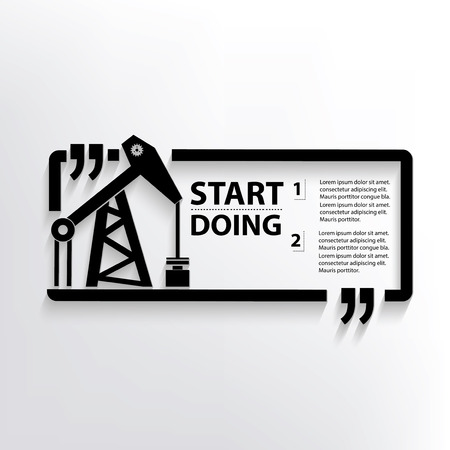 smokestack: Oil industry concept design,vector Illustration