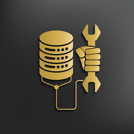 sql: Database concept design,vector Illustration
