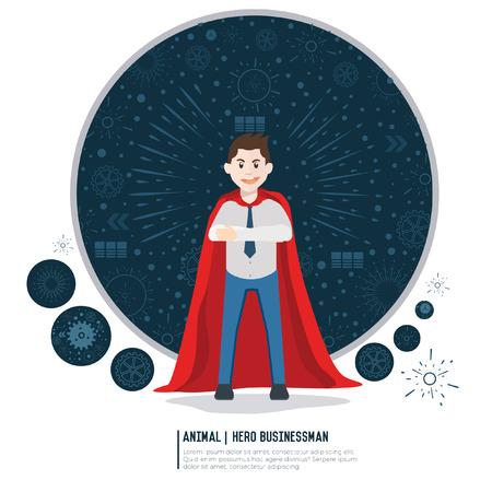 guard duty: Super hero,businessman concept design,vector