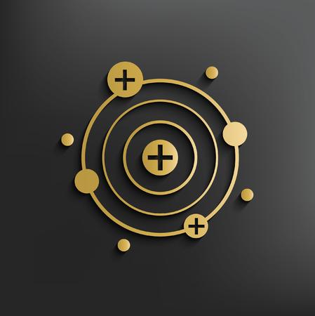 Atom concept design,vector