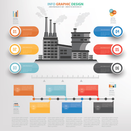 smokestack: Industry concept design,vector
