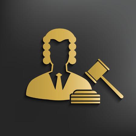 Law concept design,vector