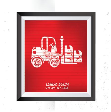 distribution picking up: Forklift concept design,vector