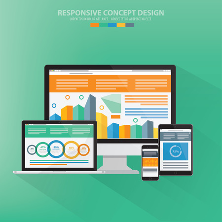 responsive design: Responsive design,vector Illustration