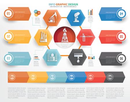 Erdölindustrie Konzept Design, Vektor