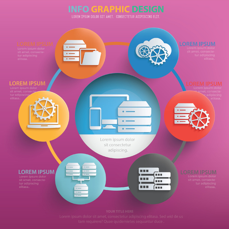 Database,network design,vector Illustration