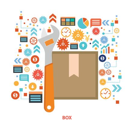 tree service pictures: Box concept design,vector