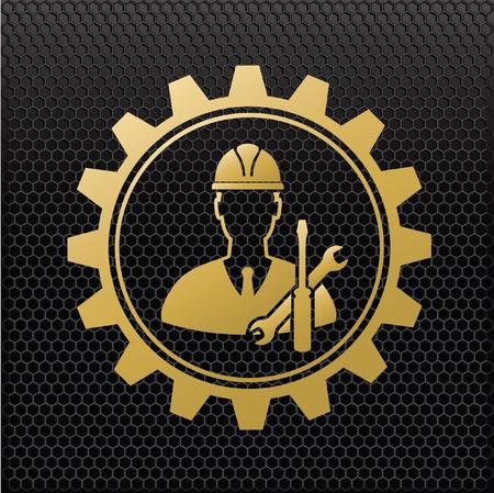 lathe: Engineer design,vector Illustration