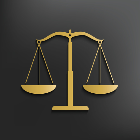 scale of justice: Justice scale design,vector