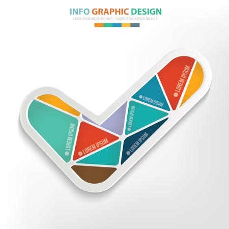 quadrate pictogram: Check mark concept design,clean vector Illustration