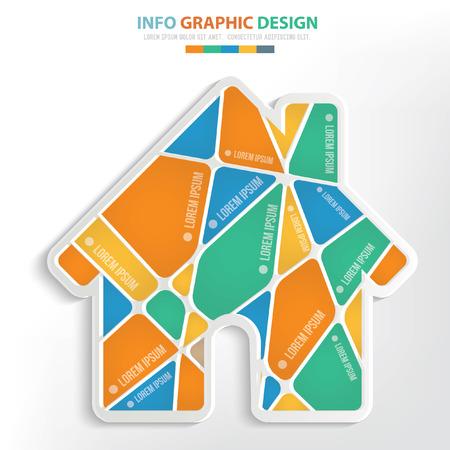 Home concept design,clean vector