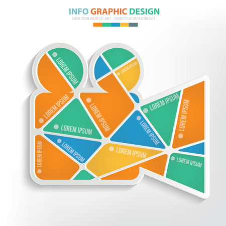Video,movie concept design,clean vector Illustration