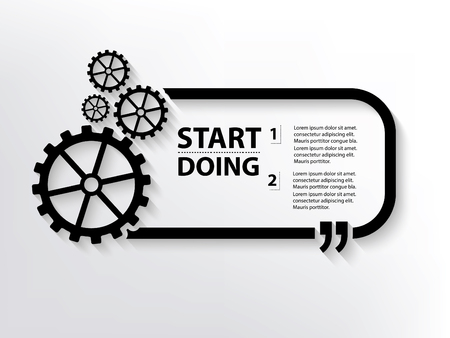 mechanism of progress: Gear concept design,clean vector Illustration