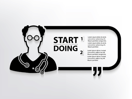 Doctor concept design,clean vector Illustration