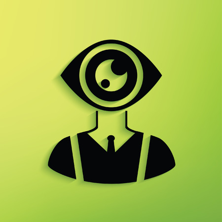 human eye: Eye human concept design,clean vector